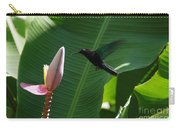 Hummingbird At Banana Flower Carry-all Pouch