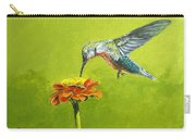 Hummingbird At Flower Carry-all Pouch