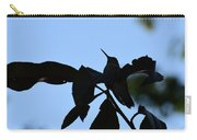 Hummingbird At Sunrise Silhouette Carry-all Pouch
