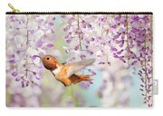 Hummingbird At Wisteria Carry-all Pouch