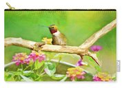 Hummingbird Attitude - Digital Paint 2 Carry-all Pouch
