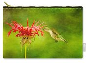 Hummingbird Bee Balm And Textures Carry-all Pouch