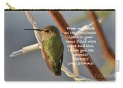 Hummingbird Christmas Card Carry-all Pouch