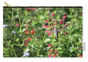 Hummingbird Drinking From Red Trumpet Vine Carry-all Pouch