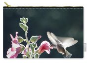 Hummingbird Drinking Pink Hollyhock Photography Carry-all Pouch