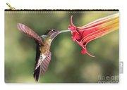 Hummingbird Enjoying Beautiful Flower Carry-all Pouch