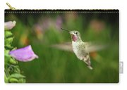 Hummingbird Hovering In Rain Carry-all Pouch