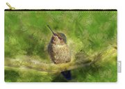 Hummingbird In A Tree Carry-all Pouch