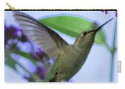Hummingbird In Butterfly Bush Carry-all Pouch