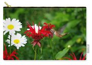 Hummingbird In Flowers Carry-all Pouch