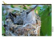 Hummingbird In Nest 1 Carry-all Pouch