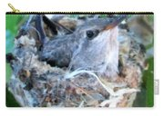 Hummingbird In Nest 2 Carry-all Pouch