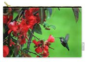 Hummingbird In The Flowering Quince - Digital Painting Carry-all Pouch