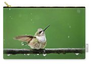 Hummingbird In The Rain Carry-all Pouch