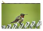 Hummingbird On A Fence Carry-all Pouch