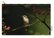 Hummingbird On Blackberry Bush Carry-all Pouch