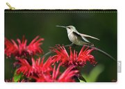 Hummingbird On Flowers Carry-all Pouch