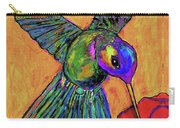 Hummingbird On Yellow Carry-all Pouch