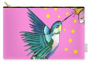 Hummingbird Pink Carry-all Pouch