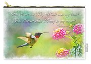 Hummingbird With Bible Verse Carry-all Pouch