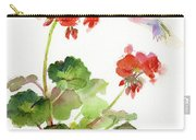 Hummingbird With Geranium Carry-all Pouch