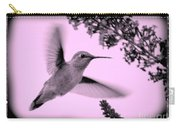 Hummingbird With Old-fashioned Frame 2  Carry-all Pouch