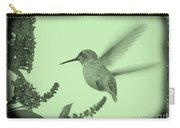Hummingbird With Old-fashioned Frame 5 Carry-all Pouch