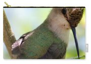 Hummingbird With Small Nest Carry-all Pouch