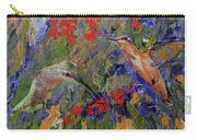 Hummingbirds 2, Abstract Art Carry-all Pouch