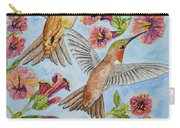 Hummingbirds And Hibiscus II Carry-all Pouch