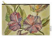 Hummingbirds And Hibiscus Carry-all Pouch