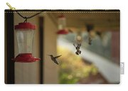 Hummingbirds In Flight Carry-all Pouch