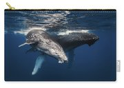 Humpback Whale And Calf Carry-all Pouch