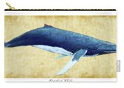 Humpback Whale Painting - Framed Carry-all Pouch