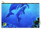 Humpback Whales Hawaii An Reef #14 Carry-all Pouch