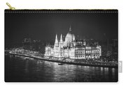 Hungarian Parliament Night Bw Carry-all Pouch