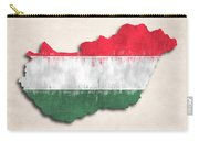 Hungary Map Art With Flag Design Carry-all Pouch