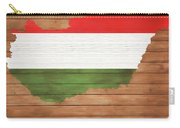 Hungary Rustic Map On Wood Carry-all Pouch