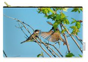 Hungry Birds In Tree Close-up Carry-all Pouch