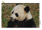 Hungry Chinese Giant Panda Bear Eating Bamboo Carry-all Pouch
