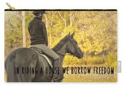 Hunter Art Quote Carry-all Pouch
