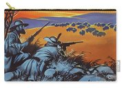 Hunting Buffalo In America Carry-all Pouch