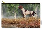 Hunting Dog By A River Carry-all Pouch