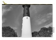Hunting Island Lighthouse Beaufort Sc Black And White Carry-all Pouch