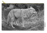 Hunting With Ears Back Black And White Carry-all Pouch