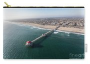 Huntington Beach Pier Aerial In Southern California  Carry-all Pouch
