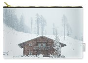 Huts And Winter Landscapes Carry-all Pouch