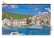 Hvar Yachting Harbor And Historic Architecture Panoramic  Carry-all Pouch