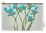 Bla Blomst Carry-all Pouch