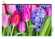 Hyacinth And  Tulip Flowers Carry-all Pouch